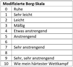Modifizierte Borg-Skala