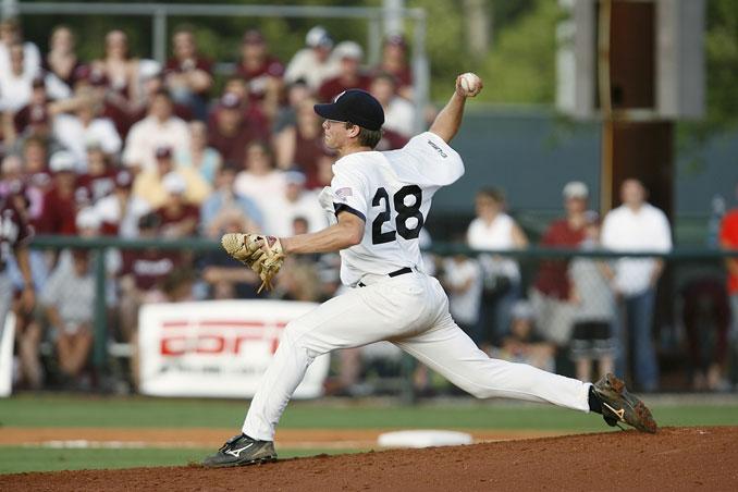 Pitcher beim Baseball